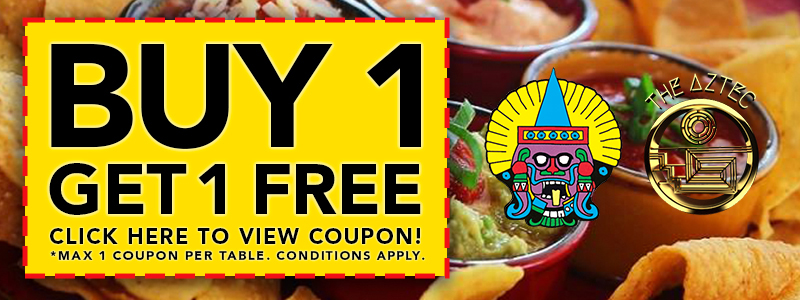 Hello Gold Coast Discount Coupon for the Aztec and Montezumas Mexican Restaurants