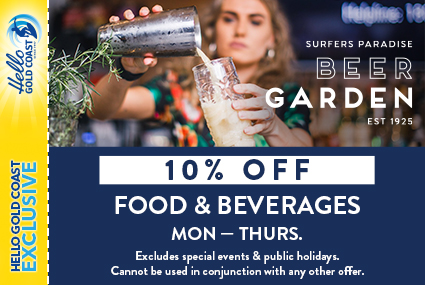 Discount Coupon – Surfers Paradise Beer Garden