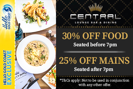 Discount Coupon –Central Lounge Bar & Dining