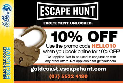 Discount Coupon –Escape Hunt