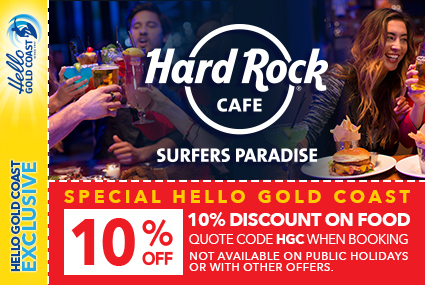 Discount Coupon – Hard Rock Cafe Surfers Paradise