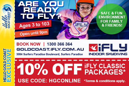 Discount Coupon –iFLY Indoor Skydiving Gold Coast