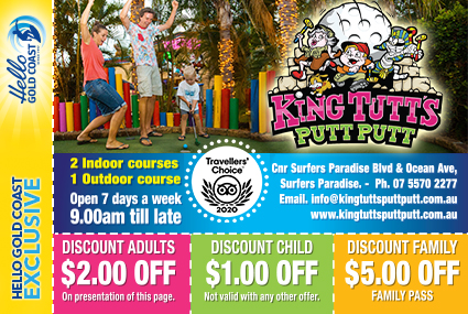 Discount Coupon – King Tutt's Putt Putt