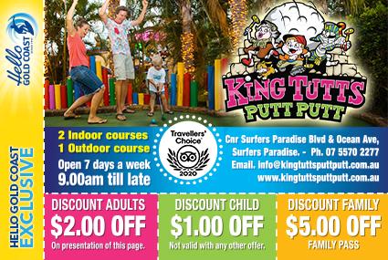 Discount Coupon – King Tutt's Putt Putt