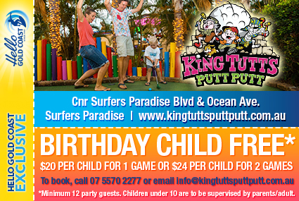 Discount Coupon – King Tutt's Putt Putt Birthday Package