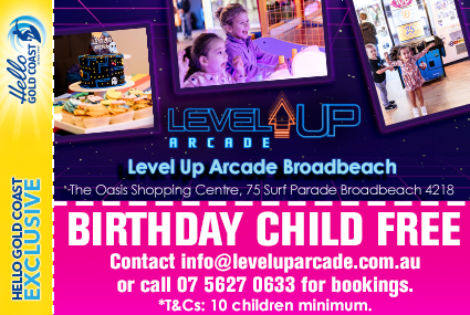 Discount Coupon –Level Up Arcade Birthday Parties
