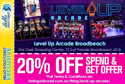 Discount Coupon – Level Up Arcade