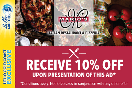 Discount Coupon – Mario's Italian Restaurant & Pizzeria