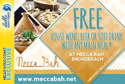 Discount Coupon – Mecca Bah Gold Coast