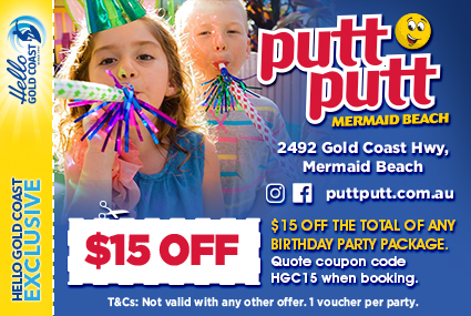 Discount Coupon –Putt Putt Golf Mermaid Beach Birthday Parties