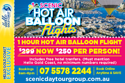 Discount Coupon – Scenic Hot Air Balloon Flights