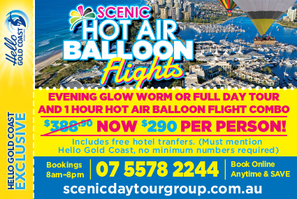 Discount Coupon – Scenic Hot Air Balloon and Glow Worm Combo