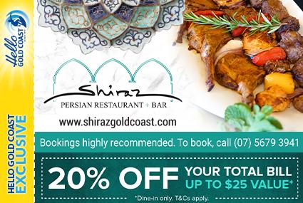 Discount Coupon –Shiraz Persian Restaurant