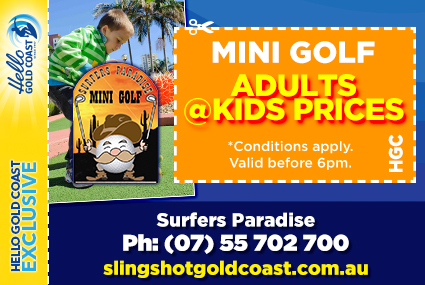 Discount Coupon –Surfers Paradise Mini Golf at SlingShot