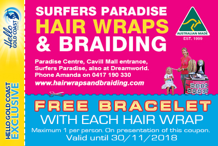 Discount Coupon –Surfers Paradise Hair Wraps and Braiding
