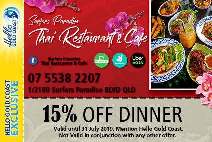 Discount Coupon – Surfers Paradise Thai Restaurant & Cafe