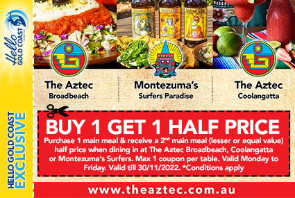 Discount Coupon – The Aztec & Montezuma's Mexican Restaurants