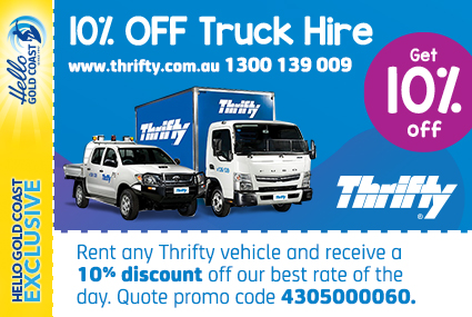 Discount Coupon –Thrifty Truck Hire