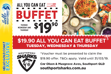 Discount Coupon –Southport Sharks