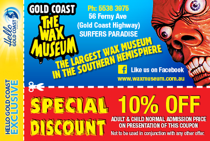 Discount Coupon –The Wax Museum