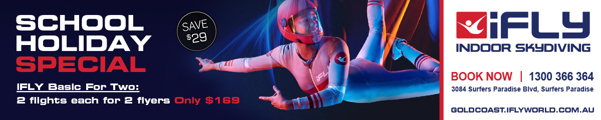 School Holidays Special at iFLY Indoor Skydiving Gold Coast