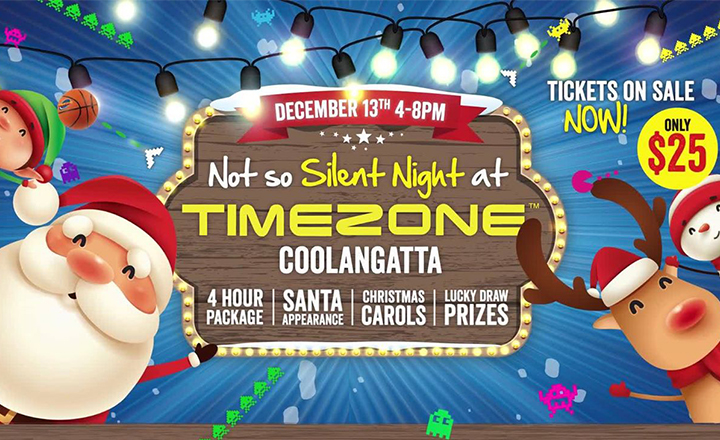 Not so Silent Night at Timezone Coolangatta