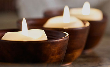 Candles at Almond Day Spa