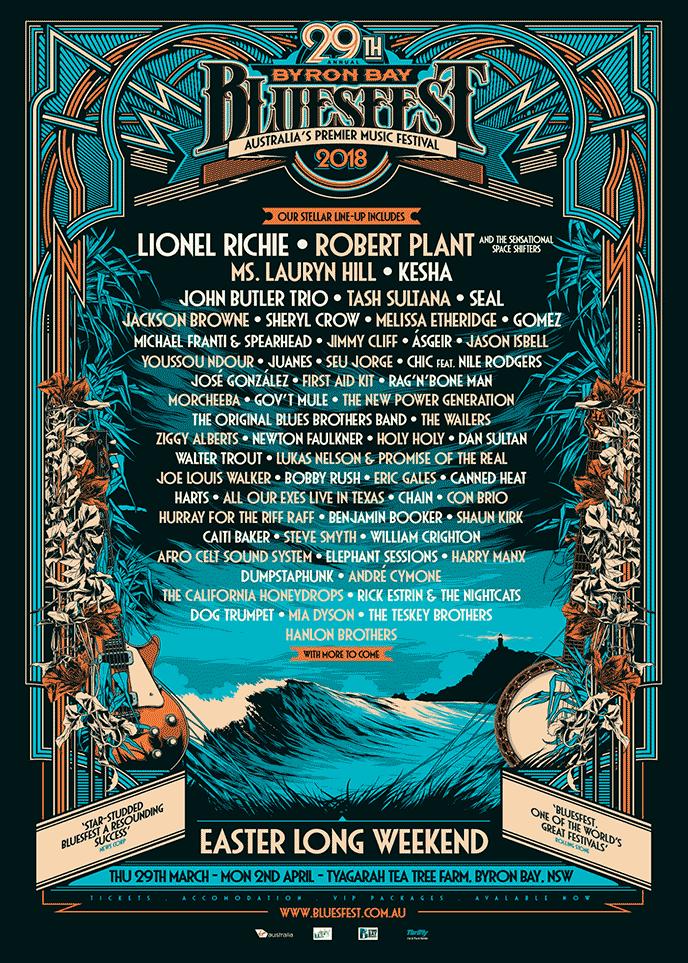 Byron Bay Bluesfest 2018 Lineup