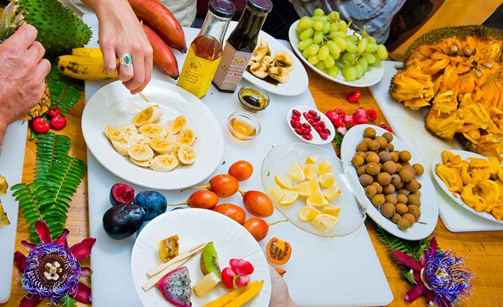Fruit tasting at Tropical Fruit World