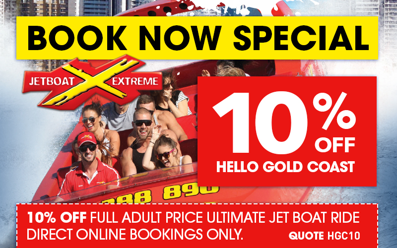 Hello Gold Coast 10% Discount for Jetboat Extreme